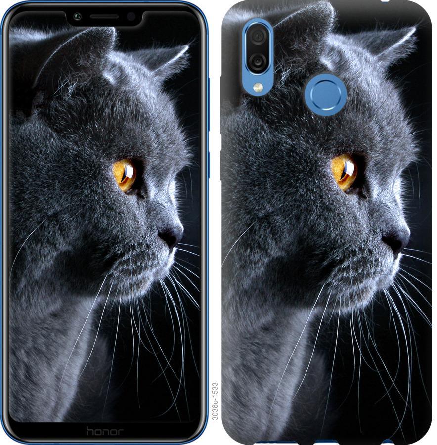 Чехол на Huawei Honor Play Красивый кот