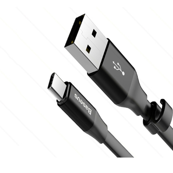 Фото Дата кабель Baseus Nimble Portable USB to Type-C 3A (23см) (1 цвет) на itsell.ua