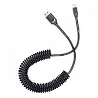 Дата кабель Baseus Double Spring (компактный) USB to Lightning 2A (1m)