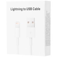 Купить Lightning to USB, Дата-кабель для Apple iPhone 5/5s/SE/6/6 Plus/6s/6s Plus /7/7Plus (box) 0.3m, Epik