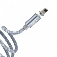 Дата кабель Hoco Magnetic U40А плетений USB to Lightning (1m)