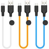 Дата кабель Hoco X21 Plus Silicone MicroUSB Cable (0.25m)