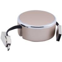Дата кабель LDNIO LC90 MicroUSB to Lightning 2.4A Combo 1m