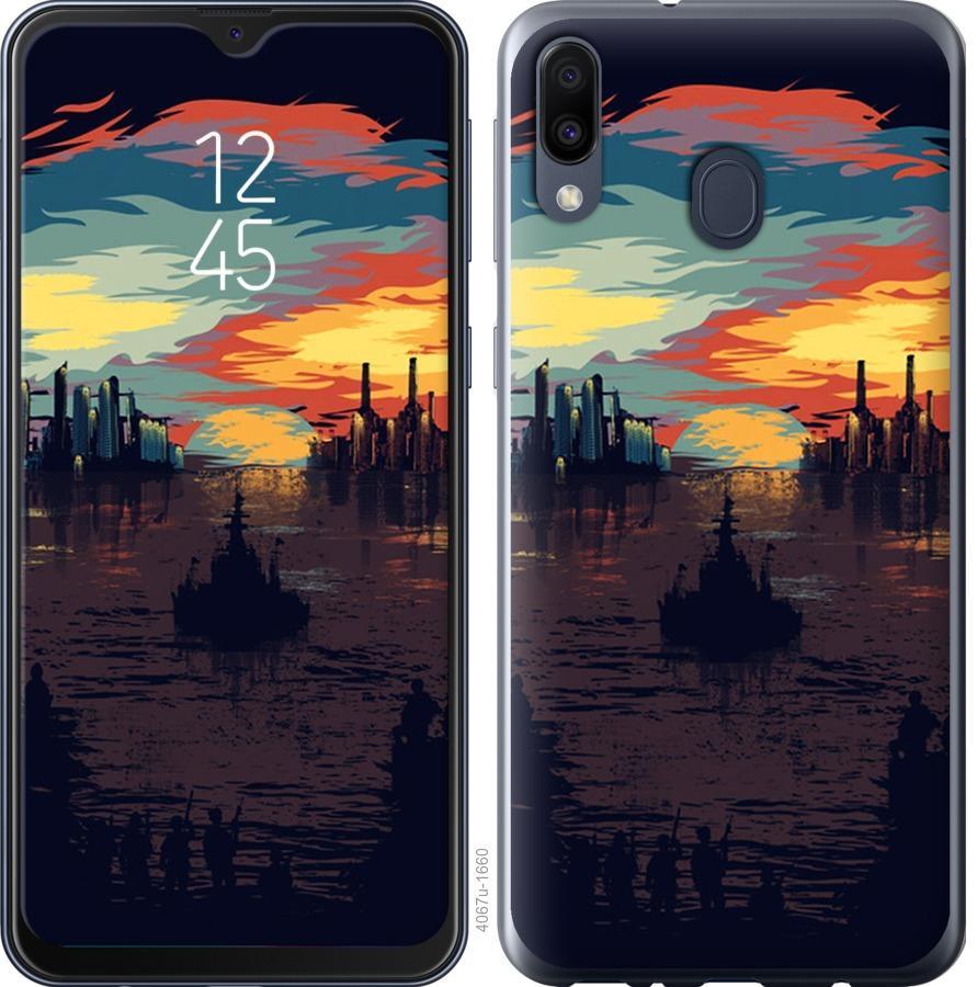 Чехол на Samsung Galaxy M30 Череп-абстракция