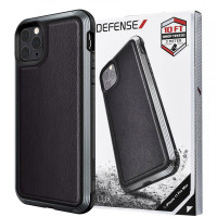 "Чехол Defense Lux Series (TPU+Metal+Leather) для Apple iPhone 11 Pro Max (6.5"")"