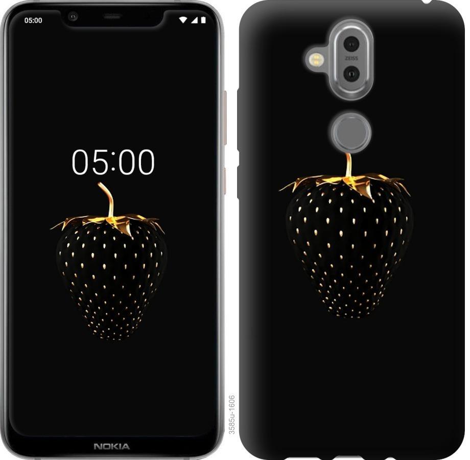 Чохол на Nokia 8.1  Чорна полуниця