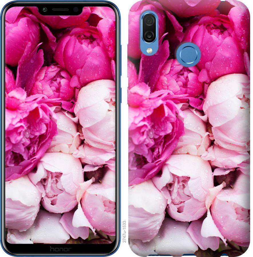 Чехол на Huawei Honor Play Розовые пионы