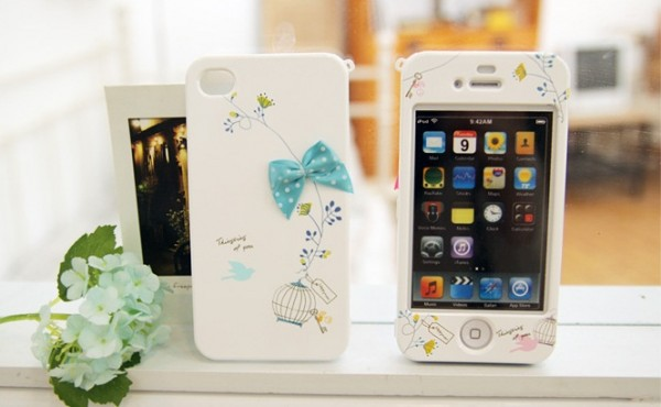 Пластиковая накладка Happymori Lovely Birdcage Series для Apple iPhone 5/5S