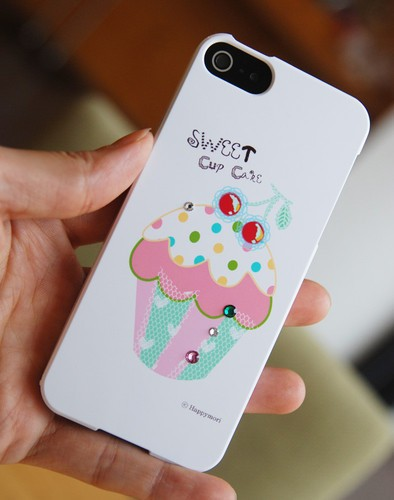 Пластиковая накладка Happymori Sweet Cup Cake Series для Apple iPhone 5/5S