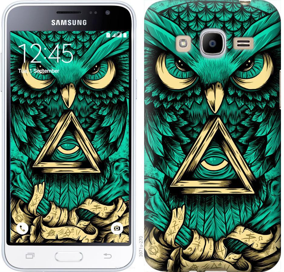 Чехол на Samsung Galaxy J2 (2016) J210 Сова Арт-тату