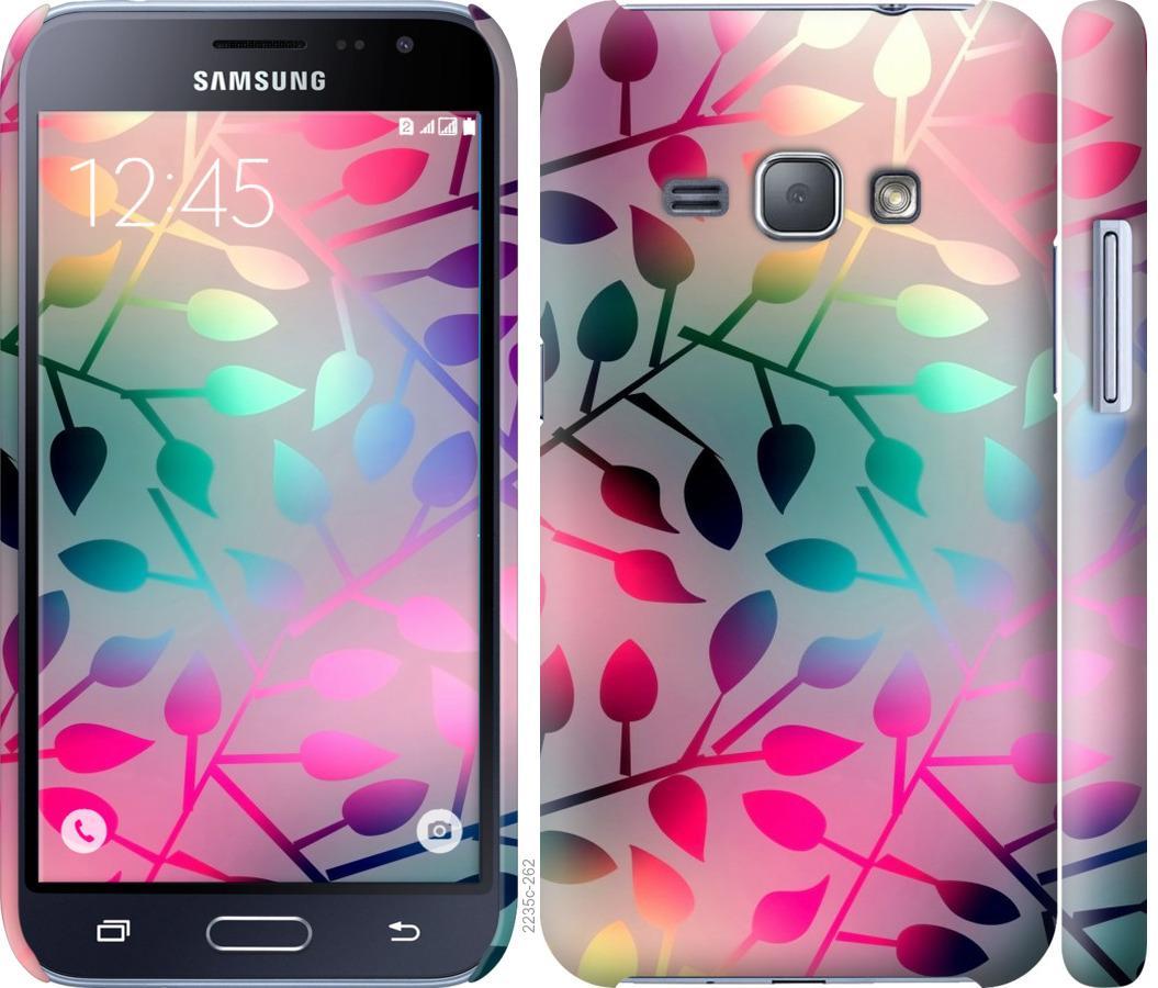 Чехол на Samsung Galaxy J1 (2016) Duos J120H Листья