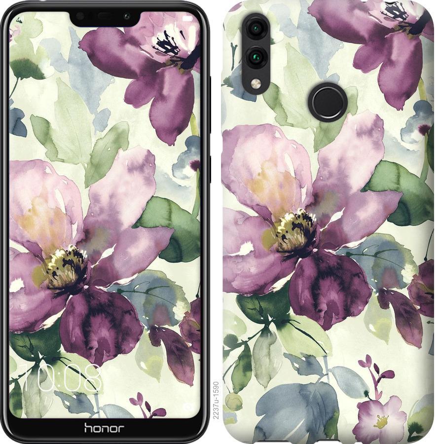 Чехол на Huawei Honor 8C Цветы акварелью