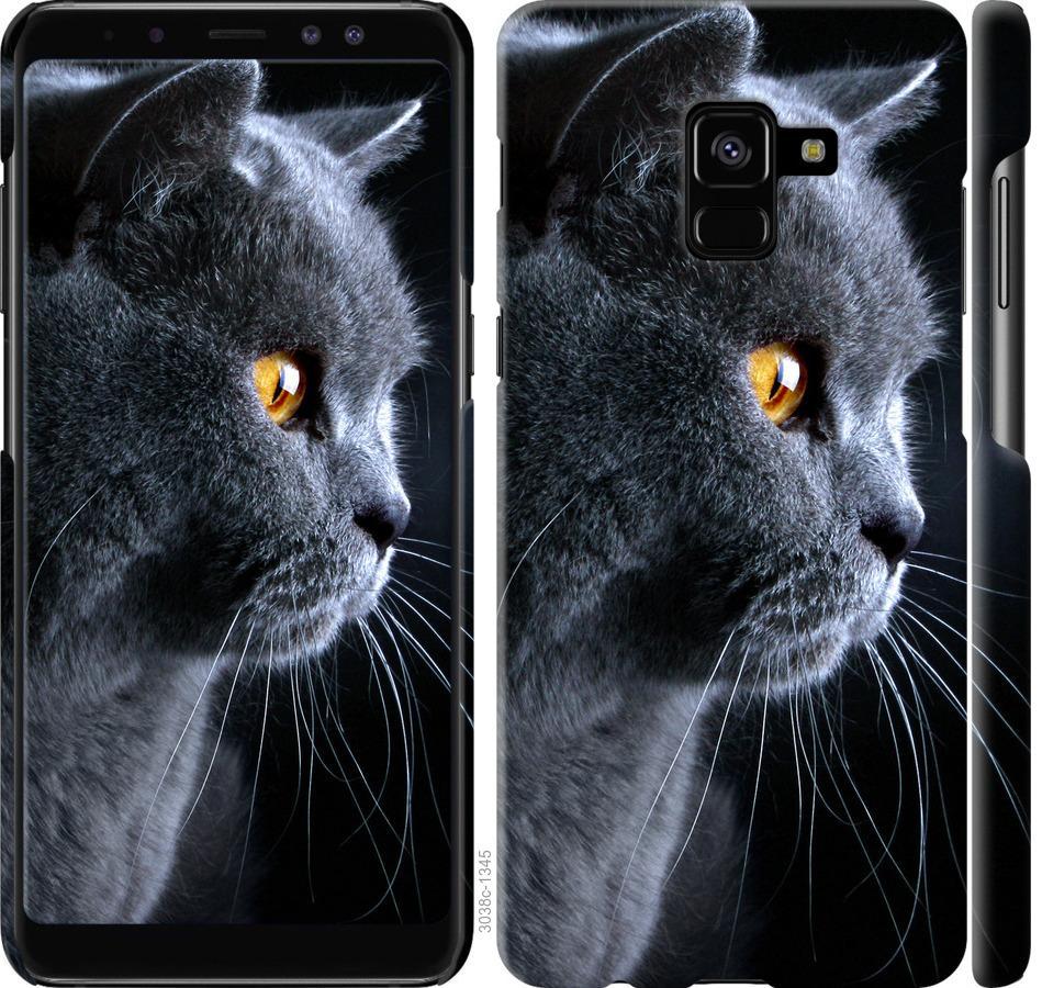 Чехол на Samsung Galaxy A8 Plus 2018 A730F Красивый кот