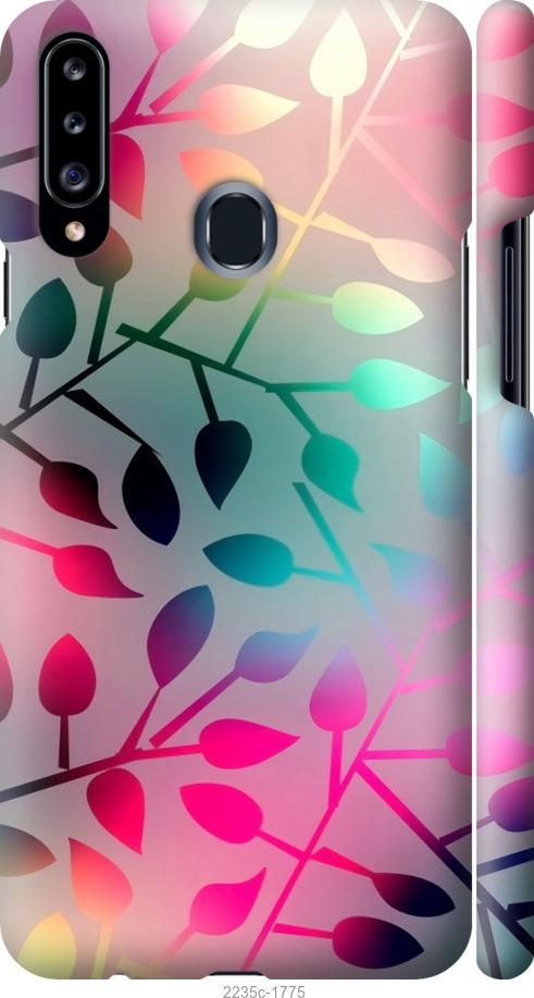 Чехол на Samsung Galaxy A20s A207F Листья