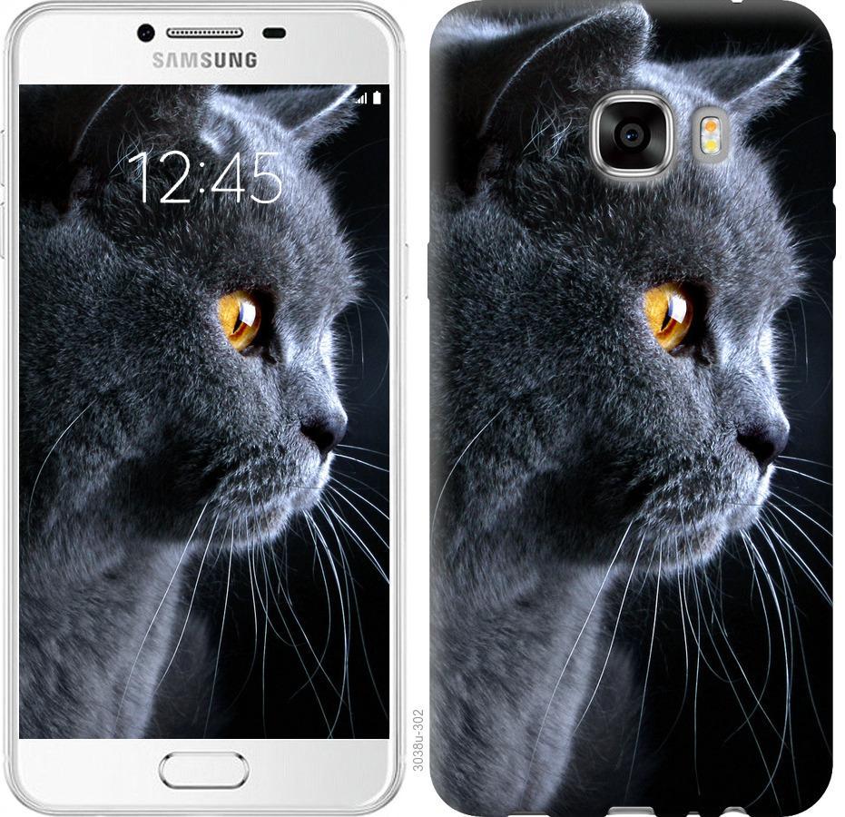 Чехол на Samsung Galaxy C7 C7000 Красивый кот