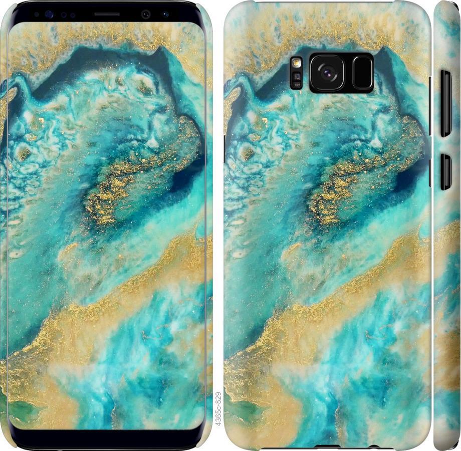 Чехол на Samsung Galaxy S8 Green marble