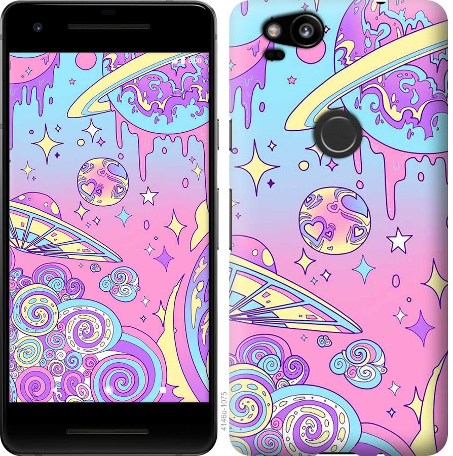 Чехол на Google Pixel 2 Розовая галактика