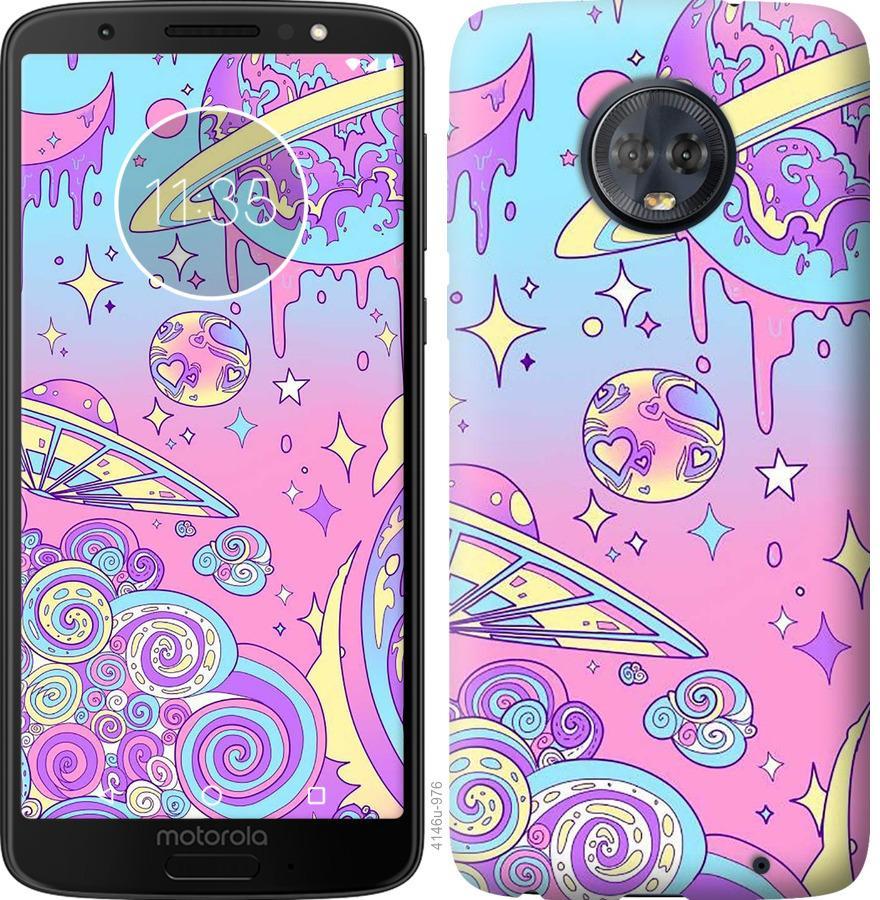 Чохол на Motorola Moto G6 Plus Рожева галактика