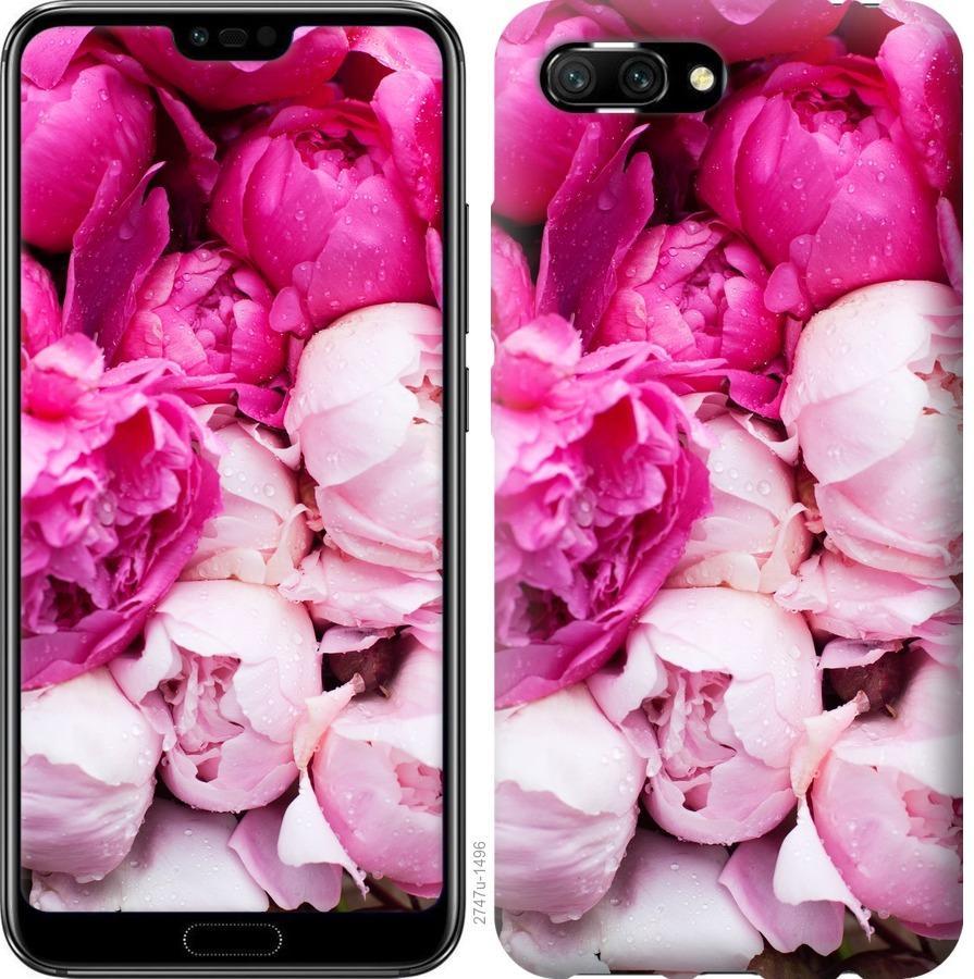 Чехол на Huawei Honor 10 Розовые пионы