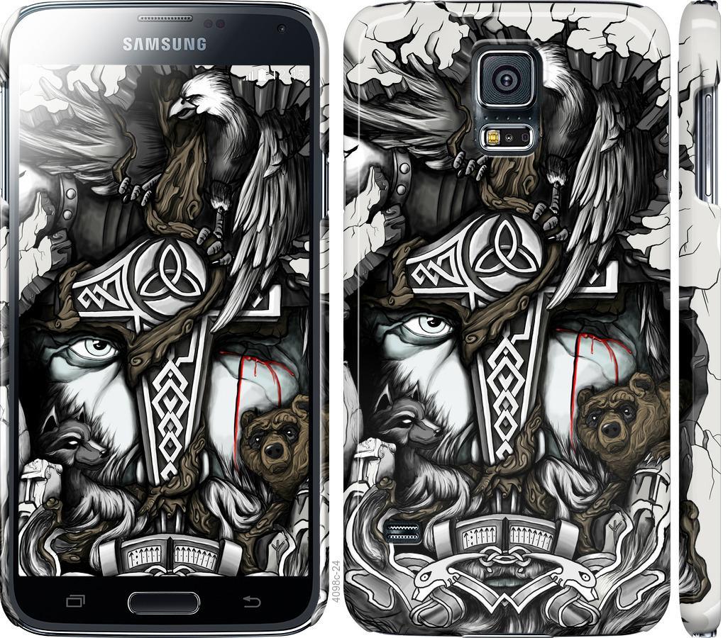 Чехол на Samsung Galaxy S5 g900h Тату Викинг