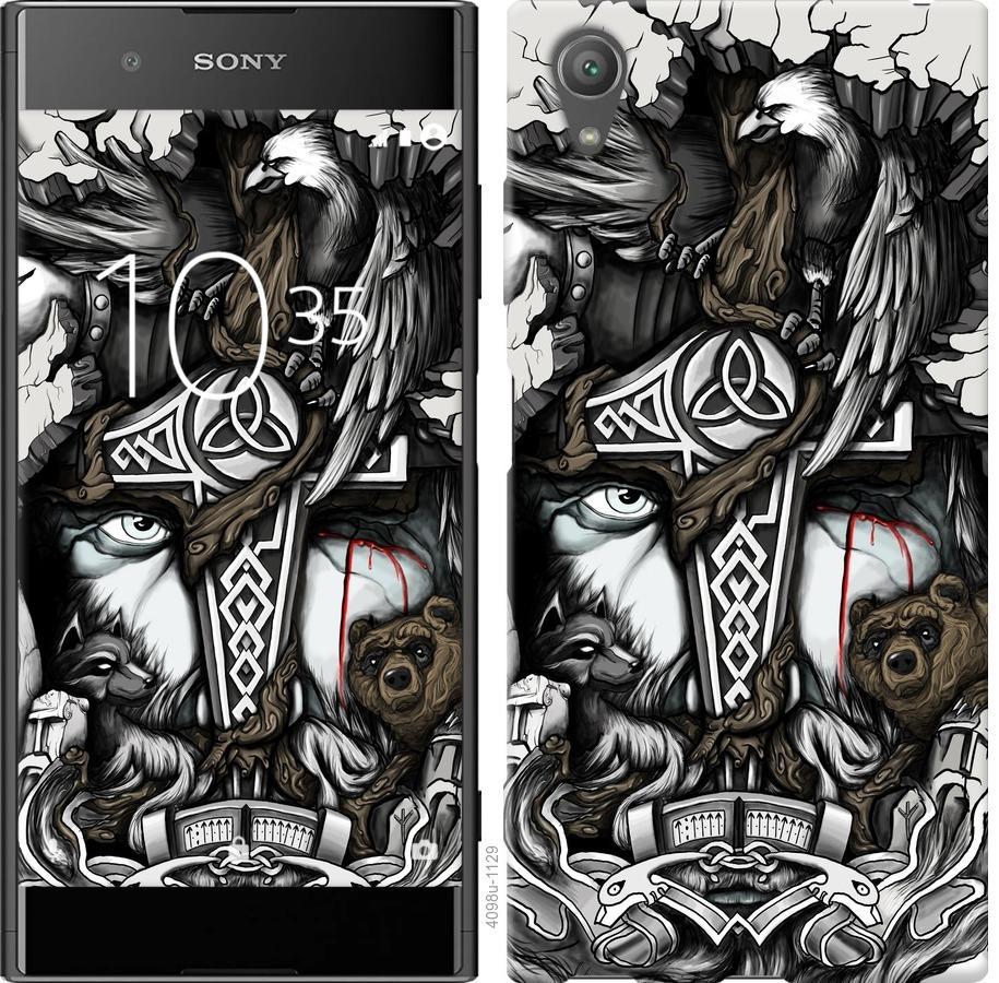 Чехол на Sony Xperia XA1 Plus G3412 Тату Викинг