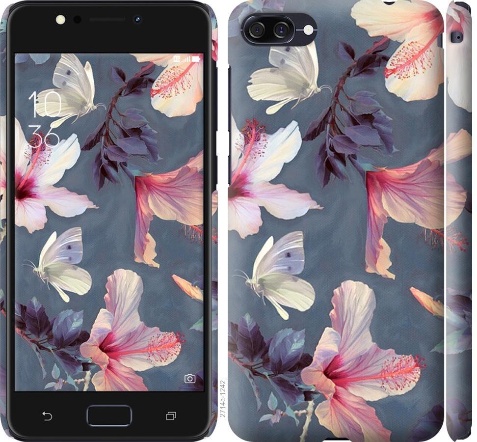 Чехол на Asus ZenFone 4 Max ZC554KL Нарисованные цветы