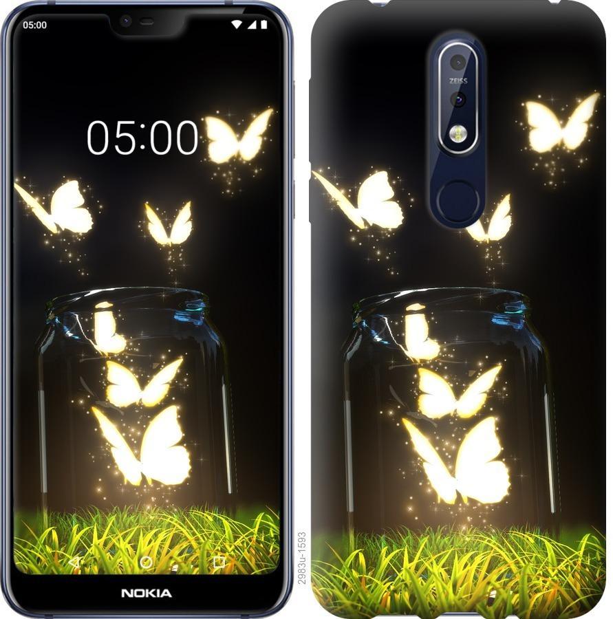 Чехол на Nokia 7.1 Бабочки
