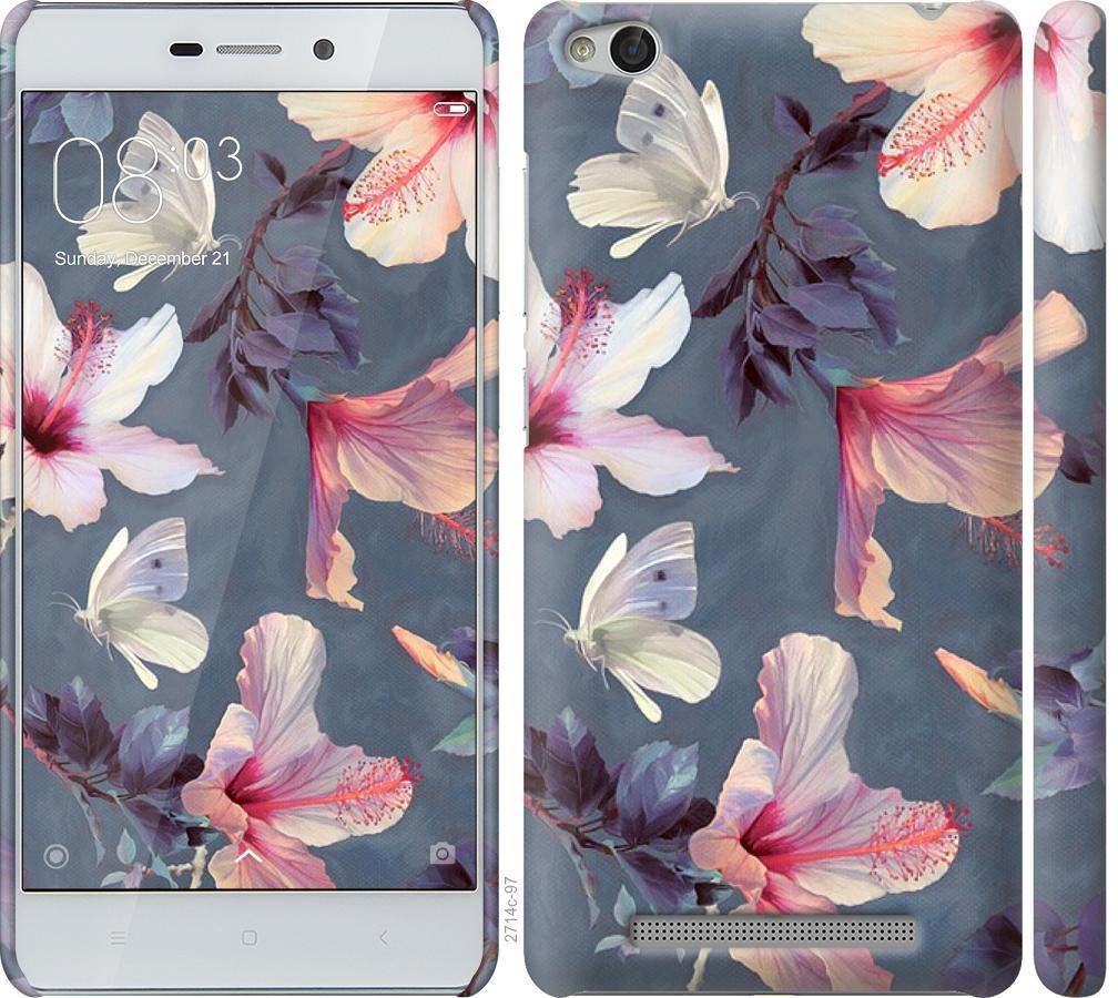 Чехол на Xiaomi Redmi 3 Нарисованные цветы