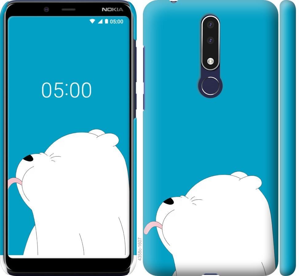 Чехол на Nokia 3.1 Plus Мишка 1