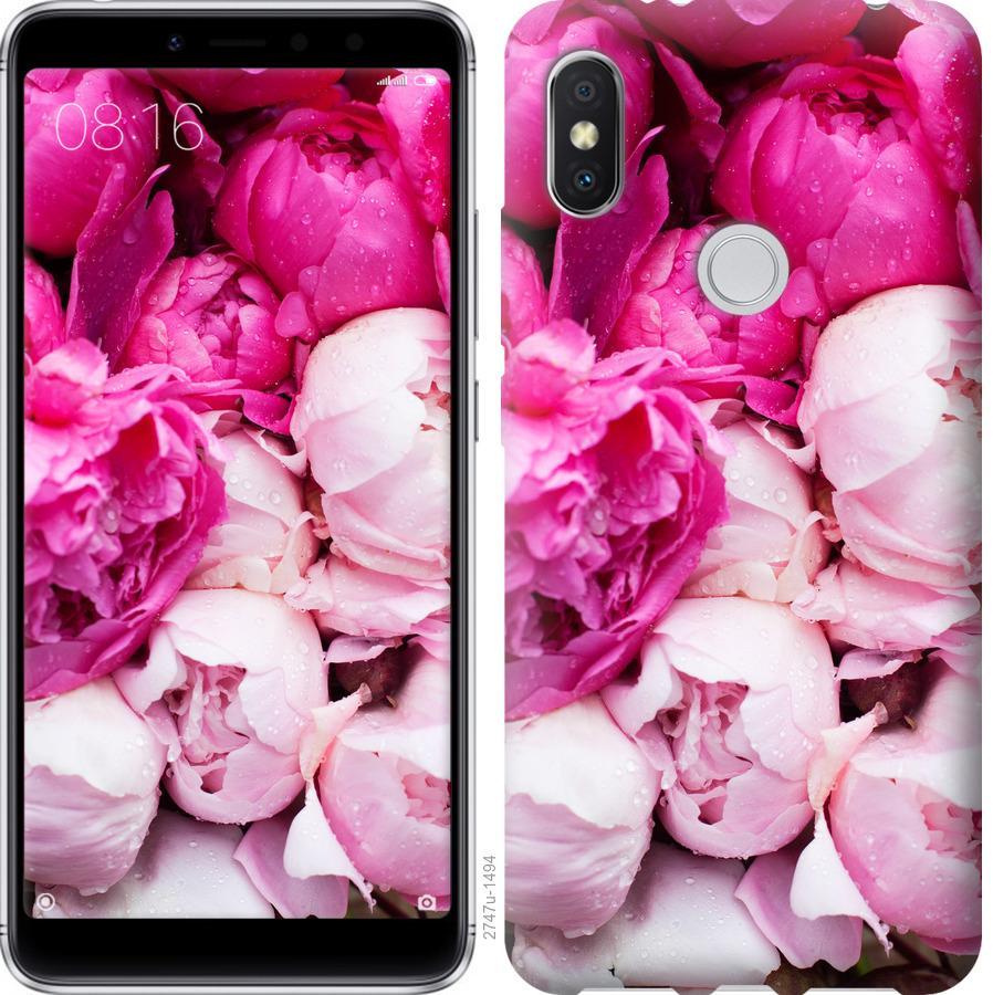 Чехол на Xiaomi Mi Mix 2s Розовые пионы