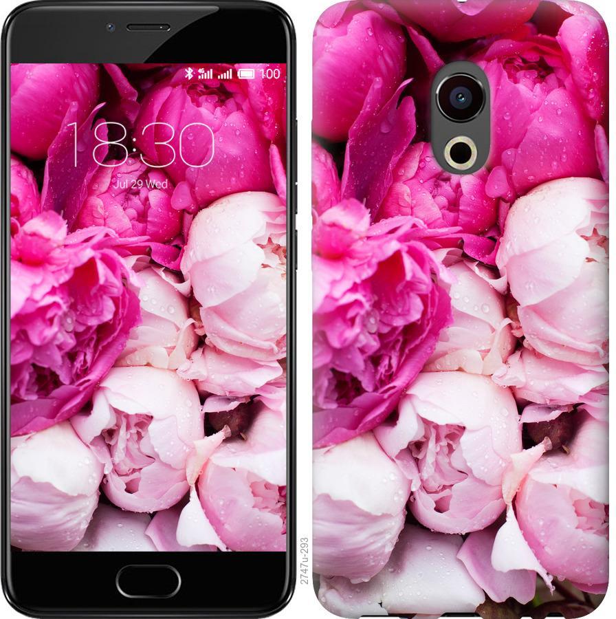Чехол на Meizu Pro 6 Розовые пионы