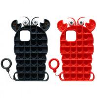 """Фигурный силиконовый 3D чехол-антистресс Pop it Лобстер для Apple iPhone 12 mini (5.4"""")"""
