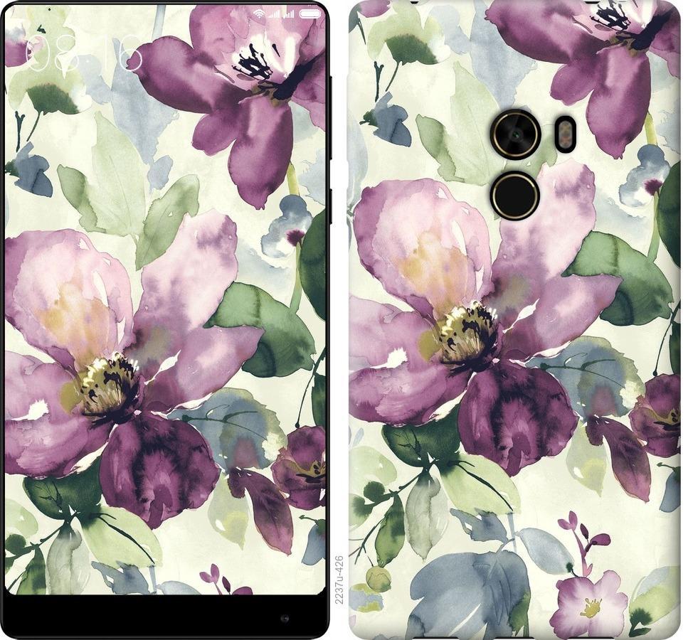 Чехол на Xiaomi Mi MiX Цветы акварелью