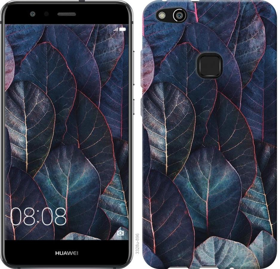 Чехол на Huawei P10 Lite Листья v3