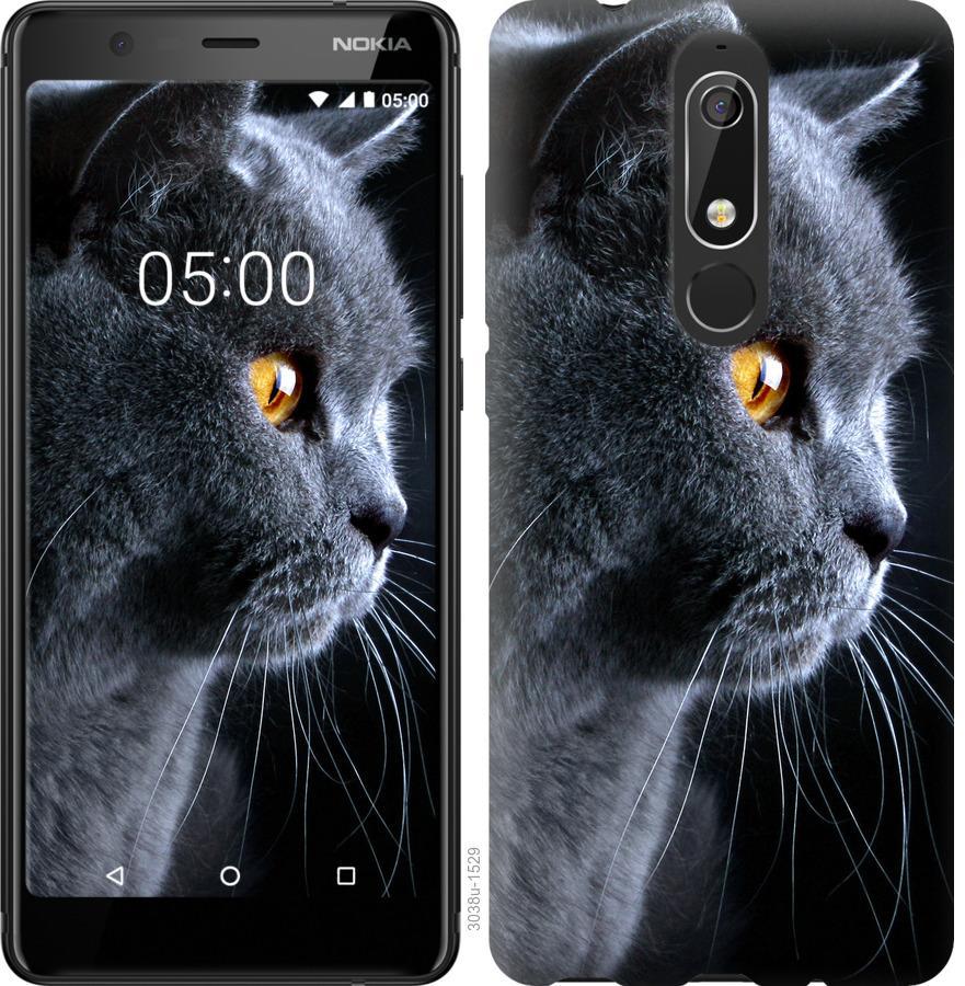 Чехол на Nokia 5.1 Красивый кот