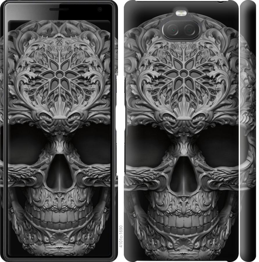 Чохол на Sony Xperia 10 Plus I4213 skull-ornament