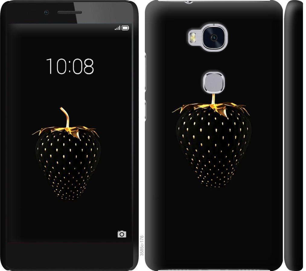 Чехол на Huawei Honor 5X Черная клубника