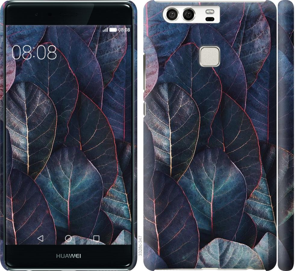 Чехол на Huawei P9 Листья v3