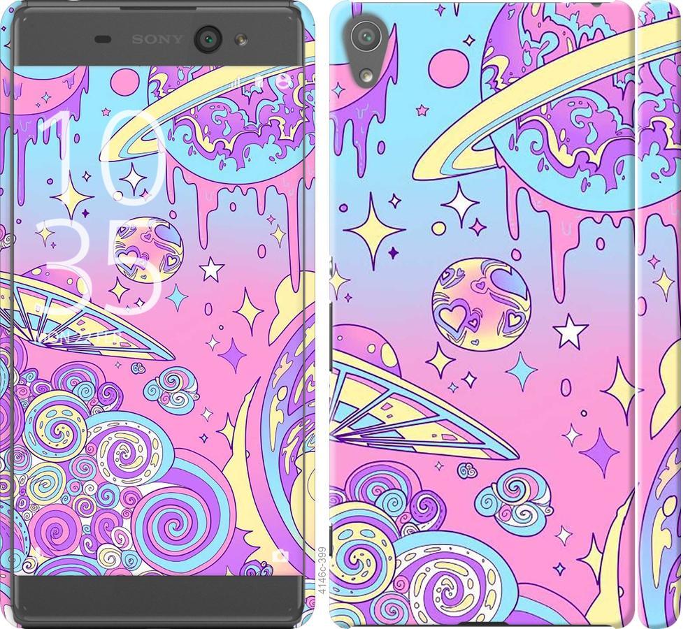 Чехол на Sony Xperia XA F3112 Розовая галактика