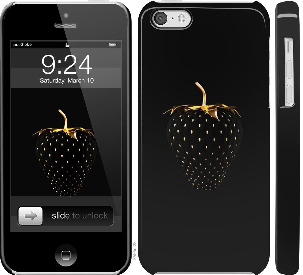 Чехол на iPhone 5c Черная клубника