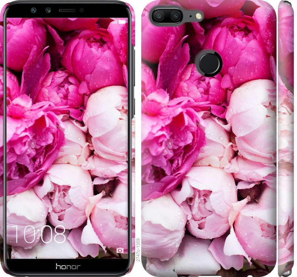 Чехол на Huawei Honor 9 Lite Розовые пионы
