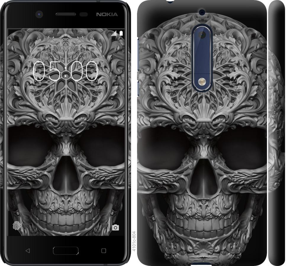 Чехол на Nokia 5 skull-ornament