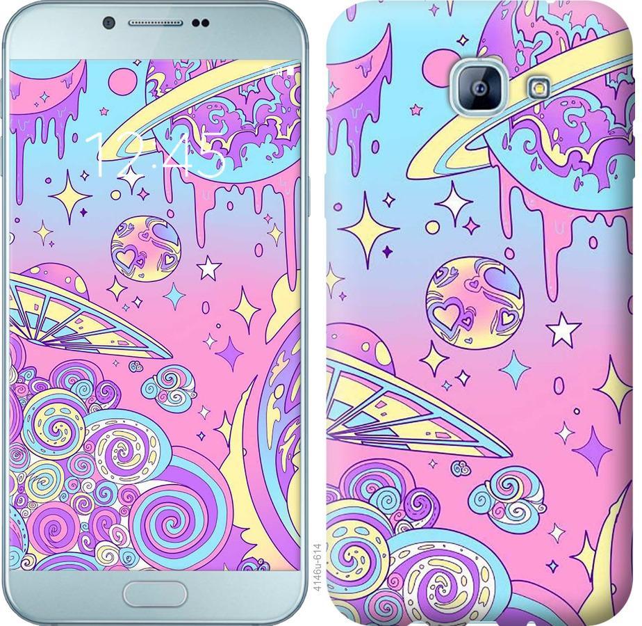 Чехол на Samsung Galaxy A8 (2016) A810 Розовая галактика