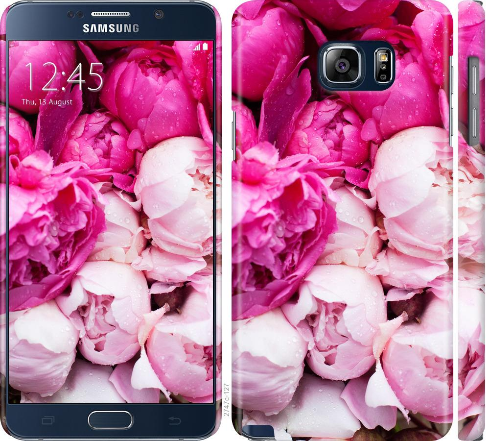 Чехол на Samsung Galaxy Note 5 N920C Розовые пионы