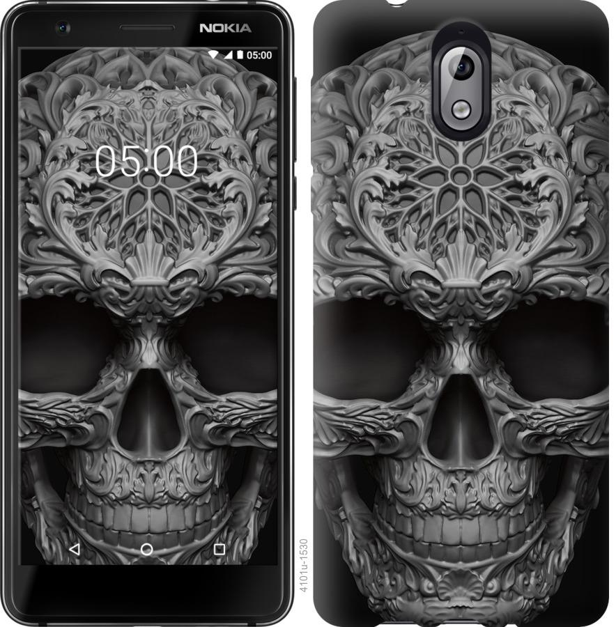 Чехол на Nokia 3.1 skull-ornament