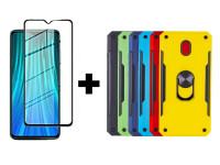 Гибкое ультратонкое стекло Mocoson Nano Glass для Xiaomi Redmi 8 / 8a + Ударопрочный чехол SG Ring Color магнитный держатель для Xiaomi Redmi 8a