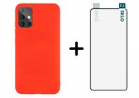 Гибкое защитное стекло SKLO Nano (тех.пак) для Samsung Galaxy A71 / Note 10 Lite + Силиконовый чехол Candy для Samsung Galaxy A71