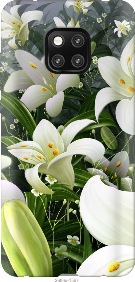 Чехол на Xiaomi Poco X3 Белые лилии