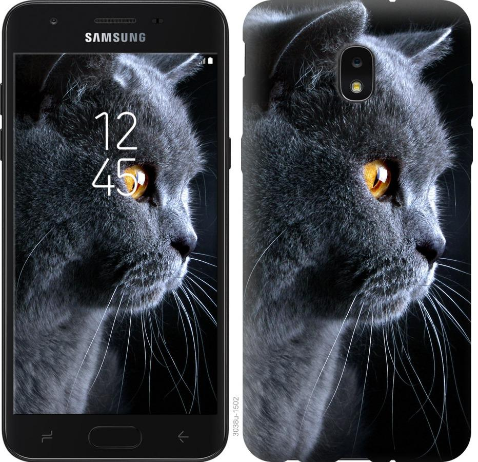 Чехол на Samsung Galaxy J7 2018 Красивый кот