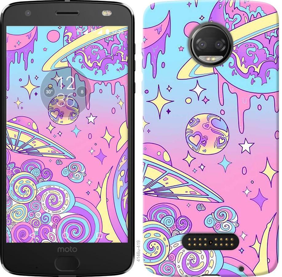Чехол на Motorola Moto G5 PLUS Розовая галактика